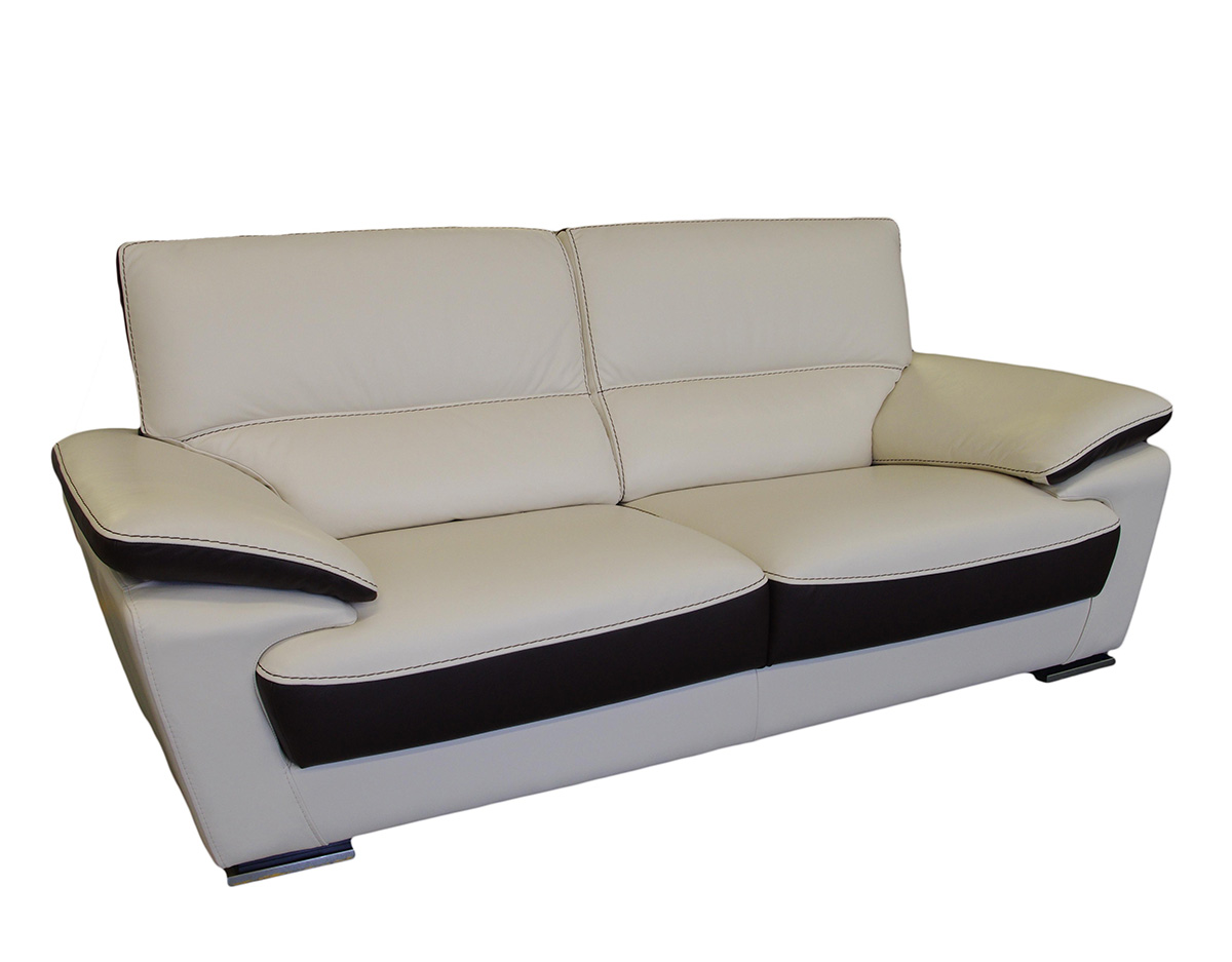 adria sofa nowoczesna skóra biała jasna