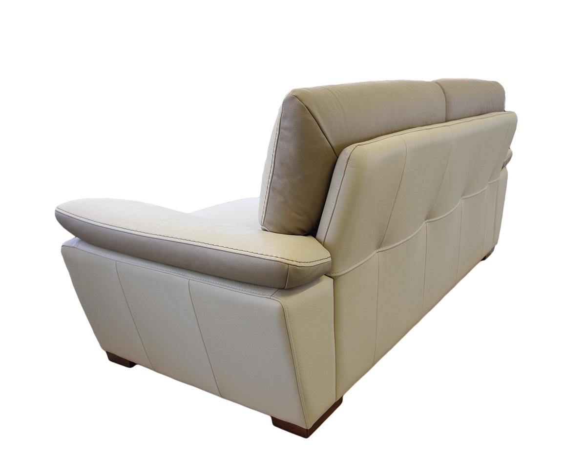 adria sofa ze skóry naturalnej beżowa