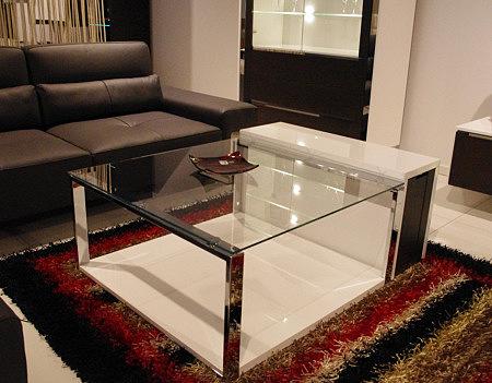 artvision ława szklana z metalowymi nogami