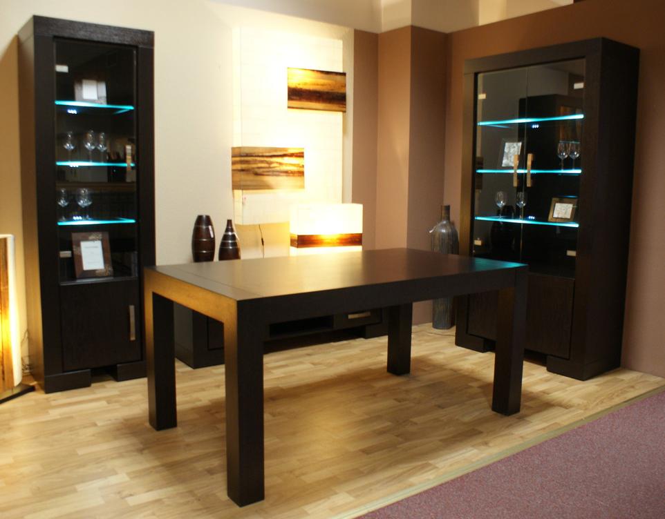 barcelona stół czarny okleina venge