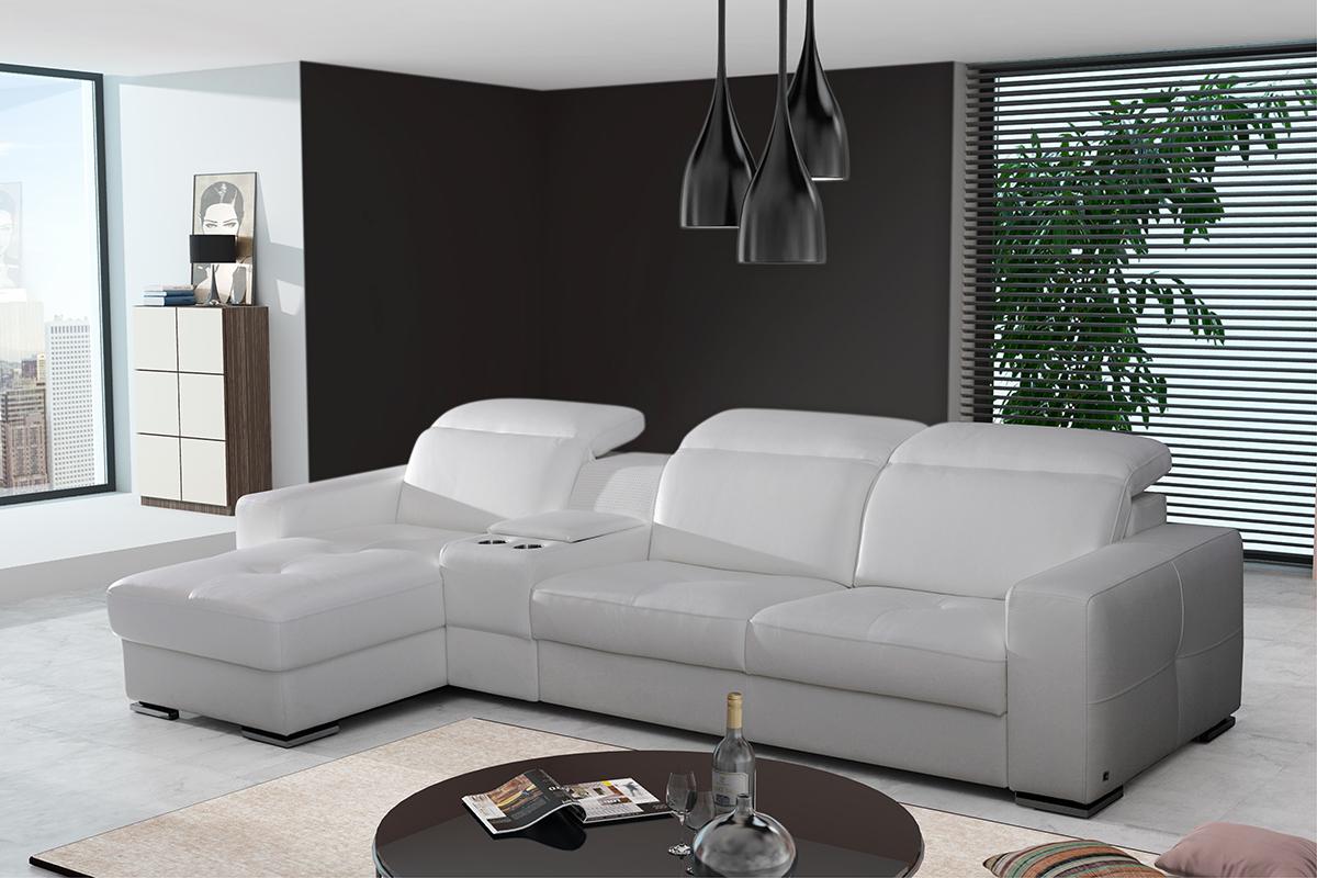 barek biała sofa narożnik skórzany