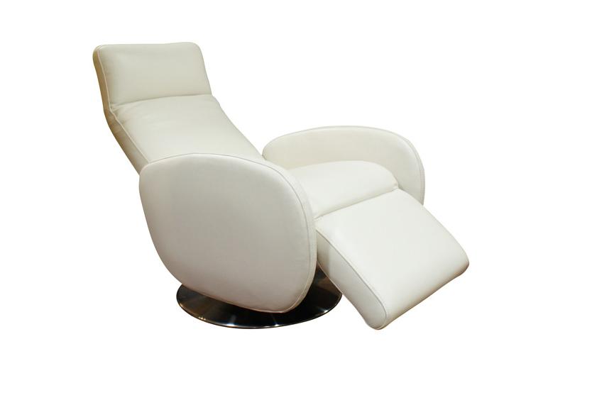 capri fotel ze skóry z możliwością rozkładania