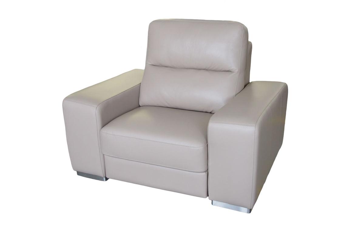 comfort biały fotel skórzany