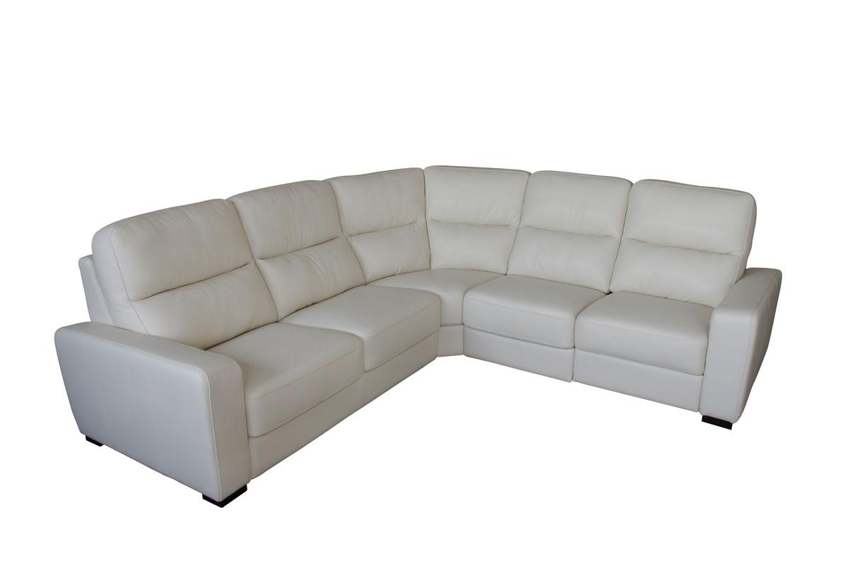 comfort sofa narożnik biała skóra