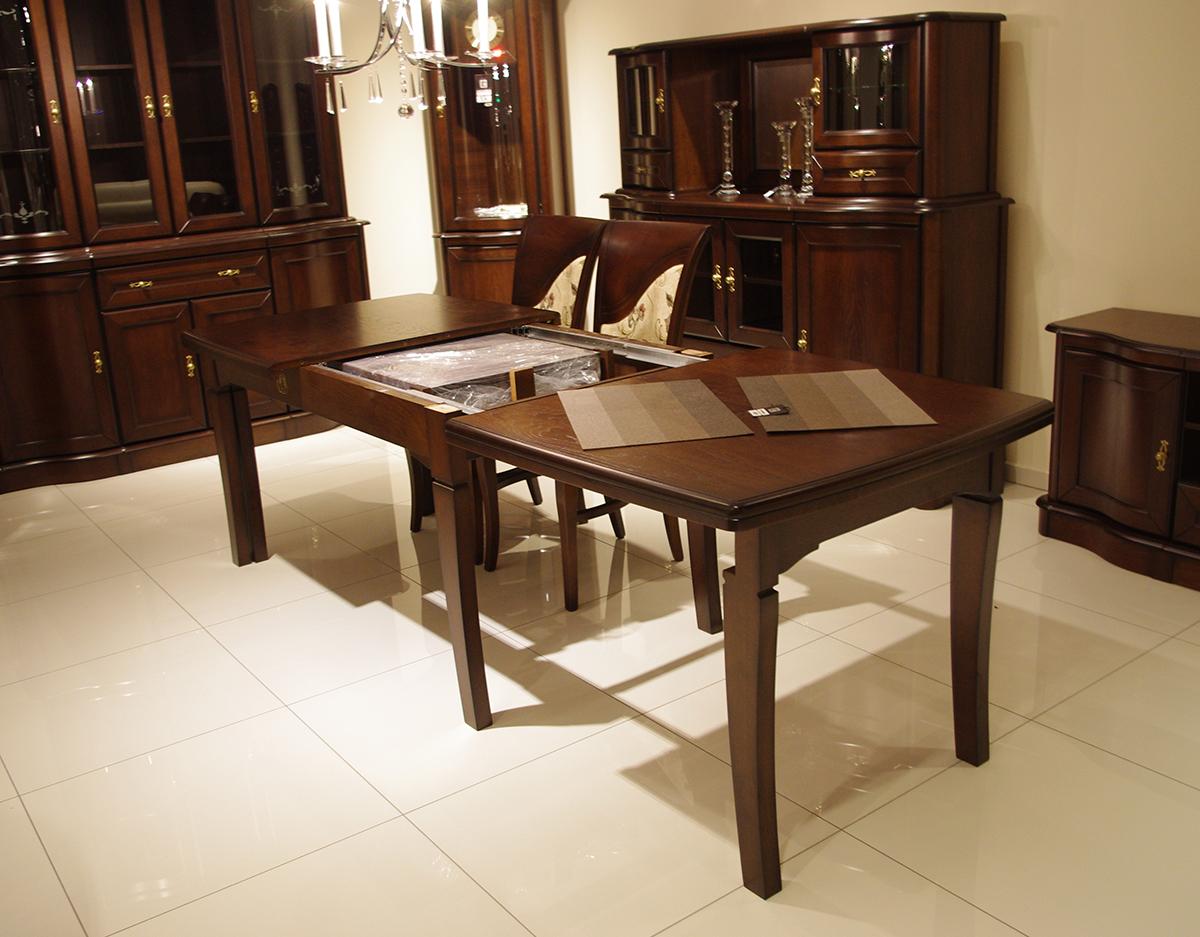diament xl stół rozkładany w stylu klasycznym