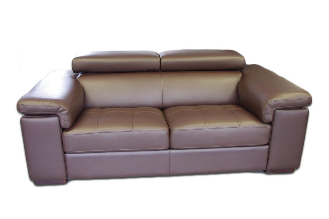 dion skórzana sofa dwuosobowa brązowa