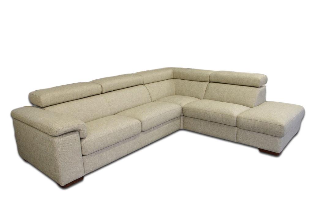 dion sofa narożnik z zagłówkami jasna skóra
