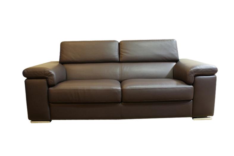 dion sofa skórzana brązowa skóra