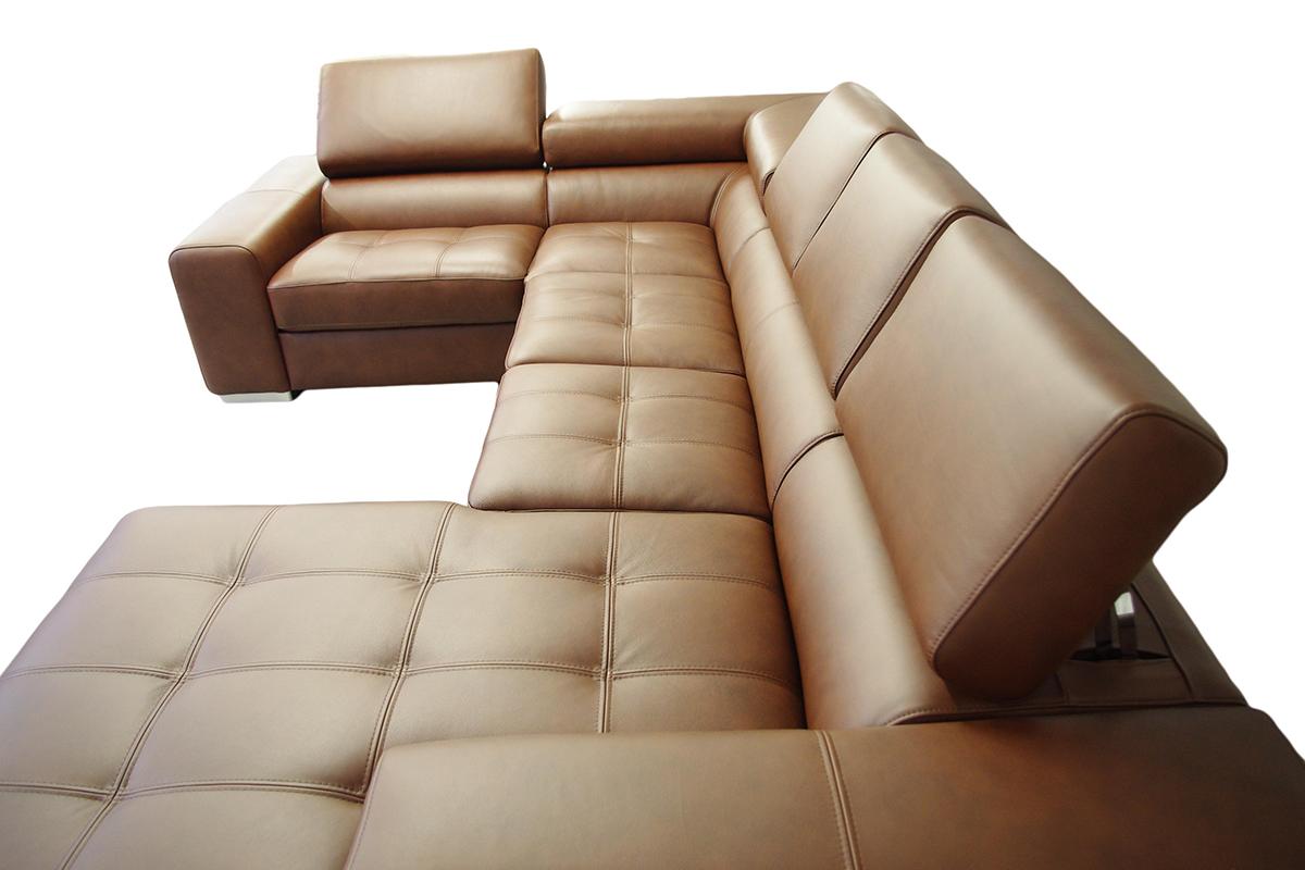 galaxy nowoczesna sofa skórzana