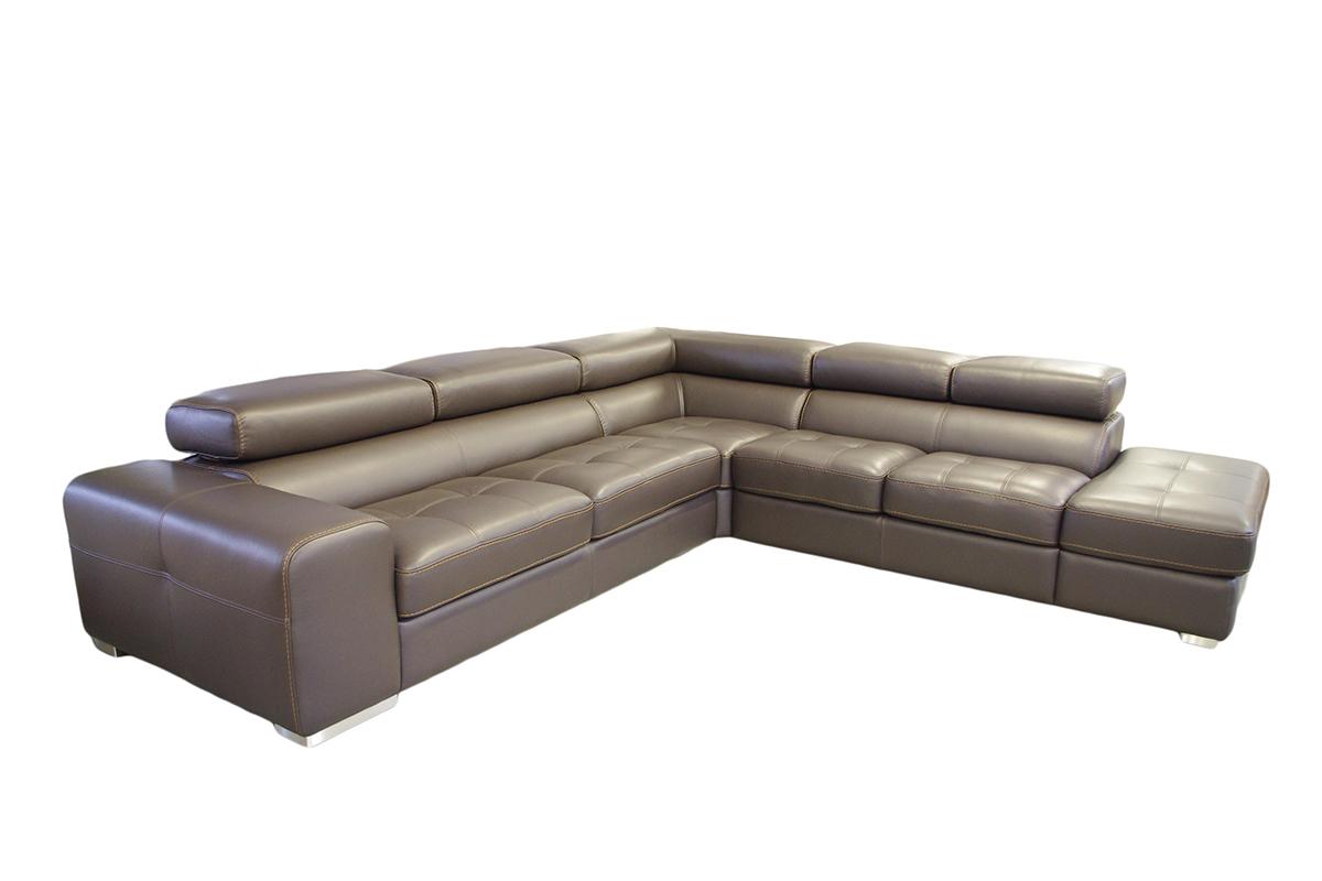 galaxy sofa skórzana szara