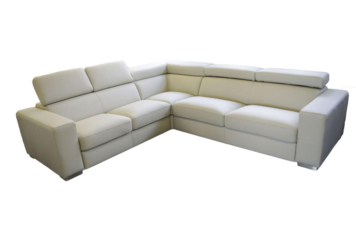 genesis biały narożnik do salonu sofa