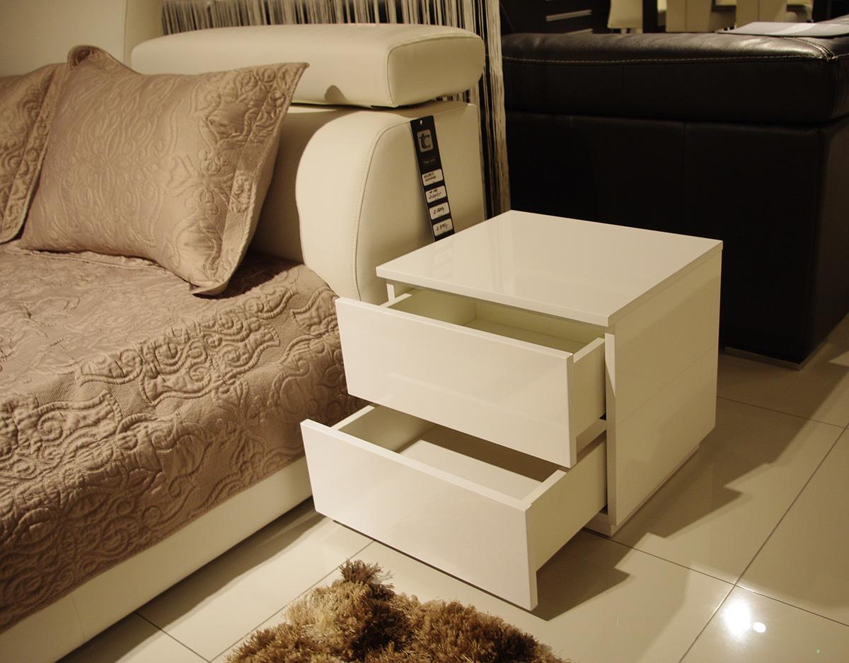 genesis szafka nocna biała z szufladami