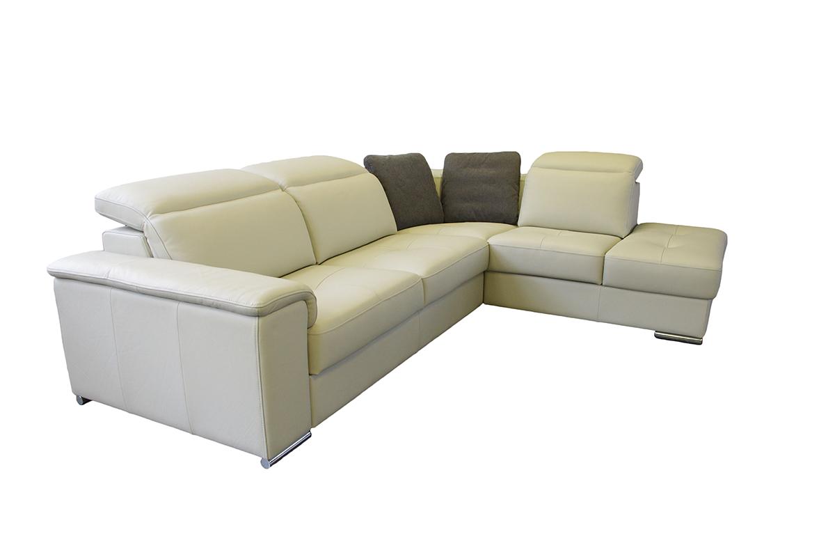 genua biała nowoczesna sofa skórzana