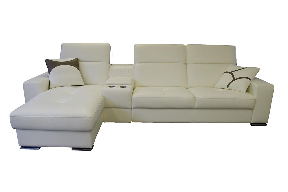 genua nowoczesna sofa z barkiem i funkcją spania