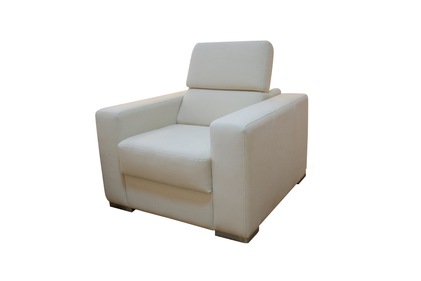 lari fotel skórzany biała skóra
