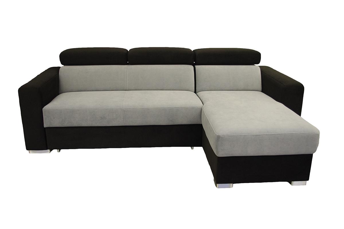 lari nowoczesna sofa narożnik obicei carabu czarne i szare