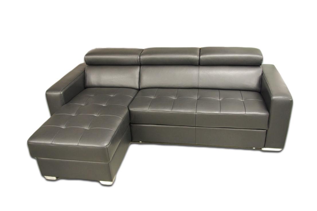 lari sofa skórzana narożnik z funkcją spania siedziska pikowane