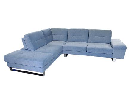 olivier sofa narożnik z metalowymi nogami