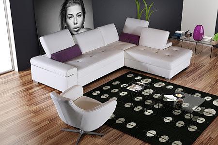 onex komplet wypoczynkowy sofa narożnik skórzany