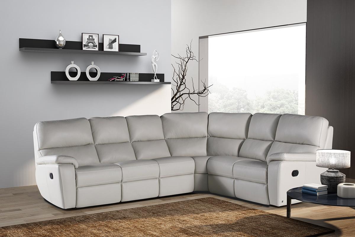 relax narożnik skórzany sofa z funkcją relax