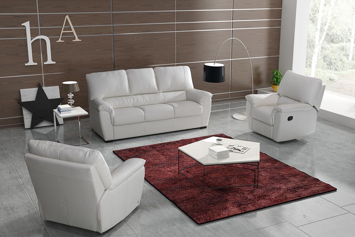 relax sofa skórzana do salonu z funkcją relax