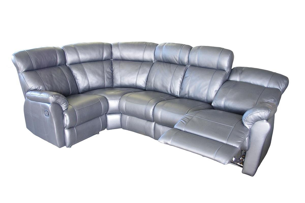relax szara sk rzana sofa z funkcj relax tc meble. Black Bedroom Furniture Sets. Home Design Ideas