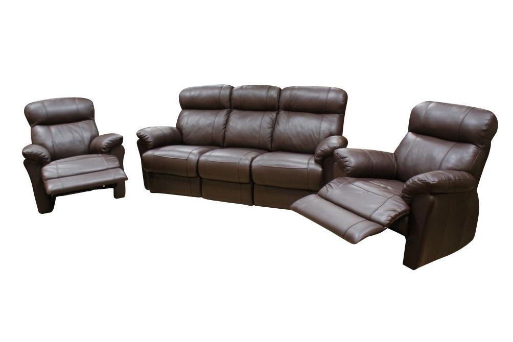 relax3 brązowy komplet wypoczynkowy skórzany