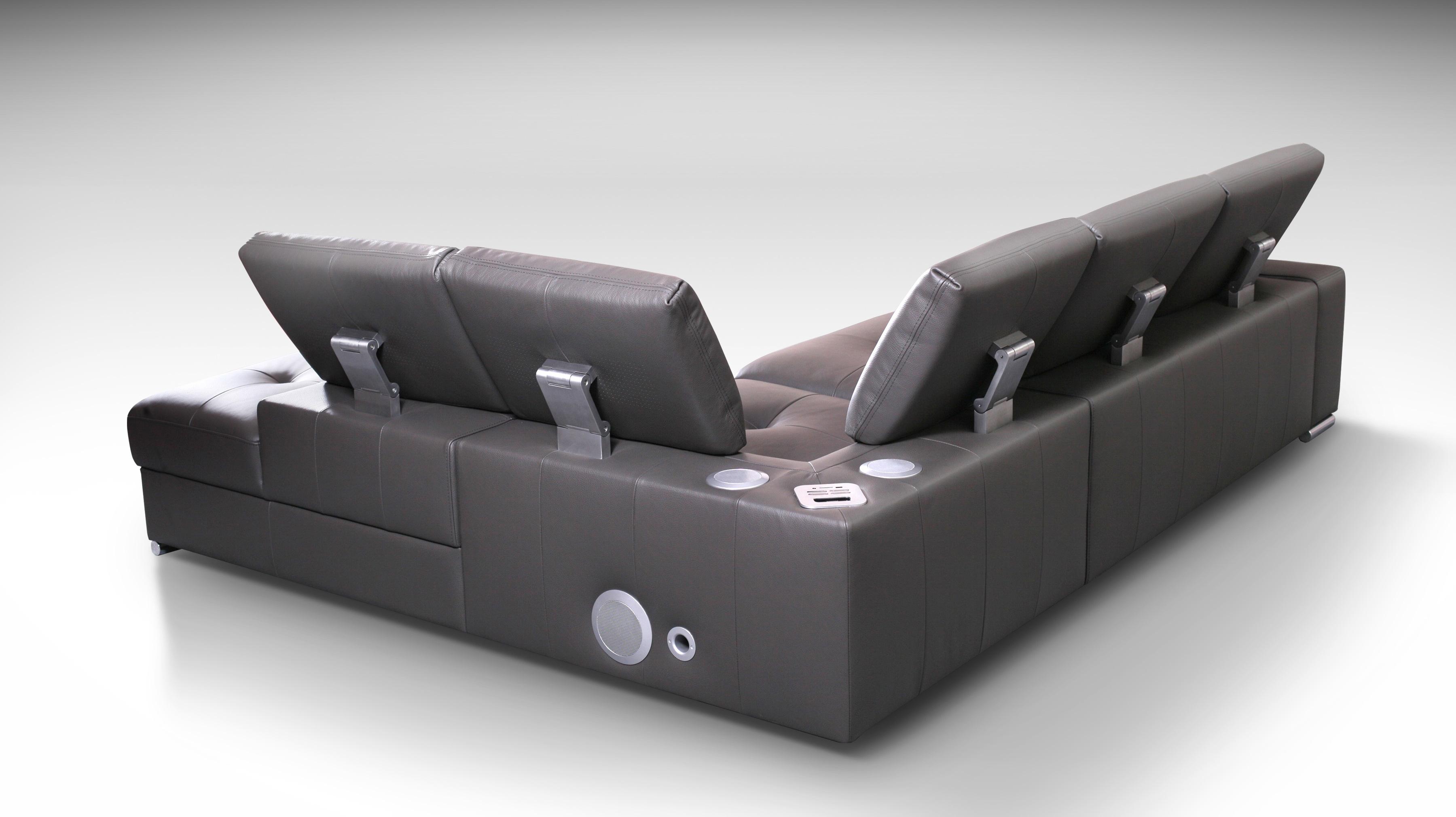 sofa skórzana z zagłówkami