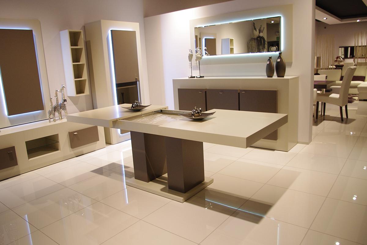 tau2 stół biały lakierowany wysoki połysk