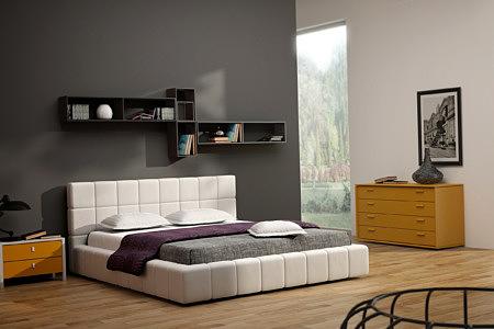 torino nowoczesne łóżko do sypialni z zagłówkiem