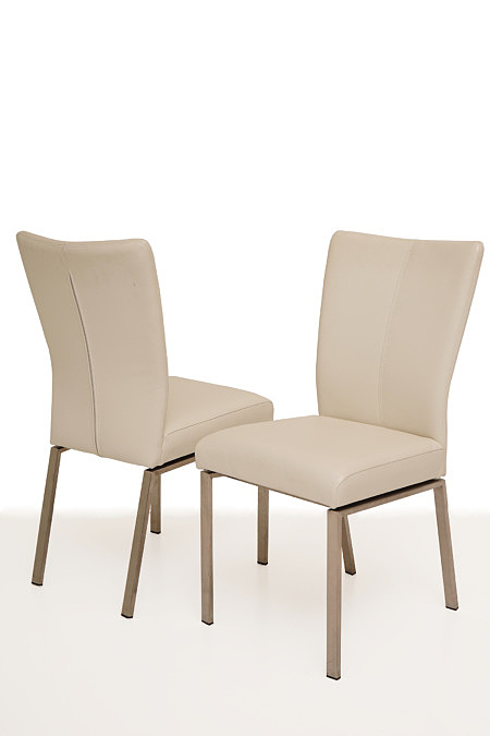 Trinity krzesło modern na płozach białe stal nierdzewna