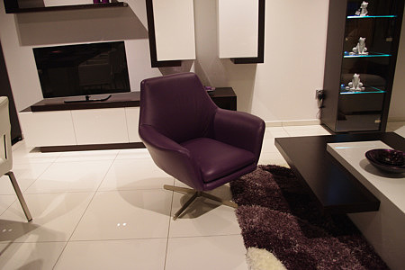 twist nowoczesny skórzany fotel obrotowy do salonu