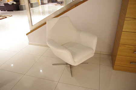 twist skórzany fotel obrotowy do salonu