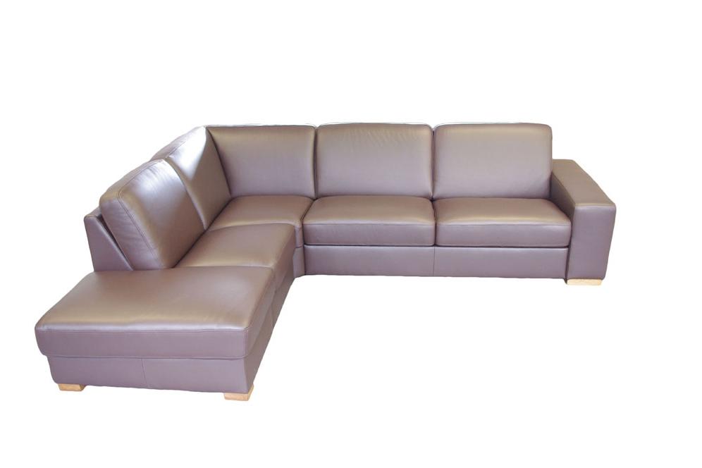 vesta nowoczesny narożnik skórzany sofa