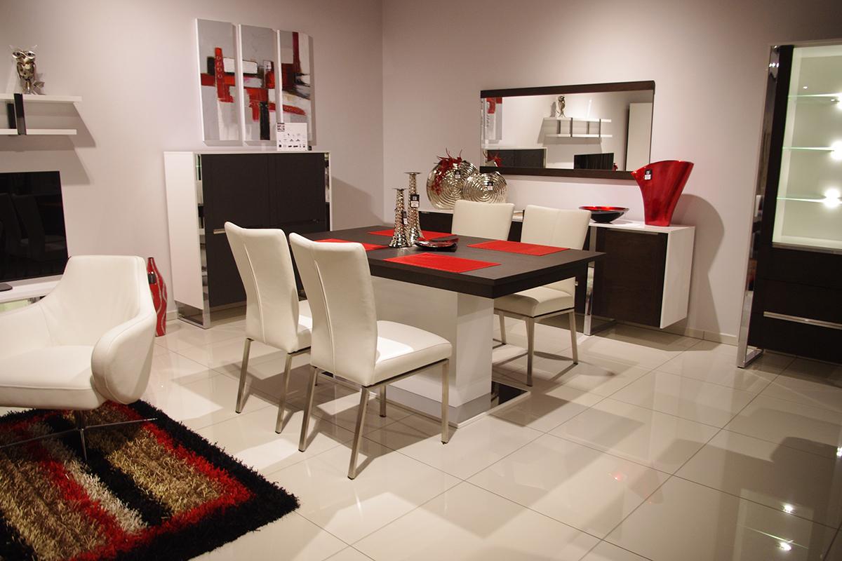 artvision aranżacja wnętrza meble białe czerwone elementy dekoracyjne