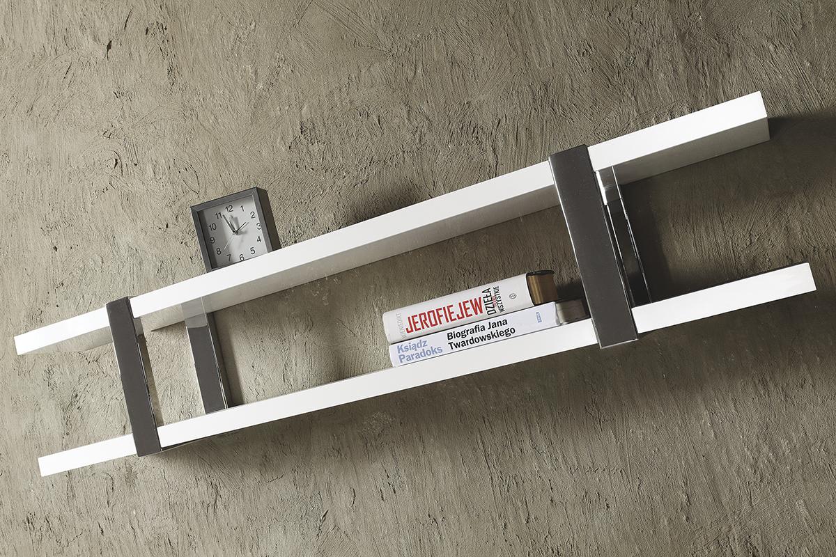 artvision biała półka wisząca aluminiowe wsporniki