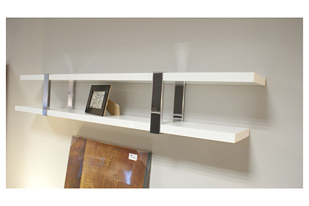 artvision biała półka z metalowymi elementami ozdobnymi
