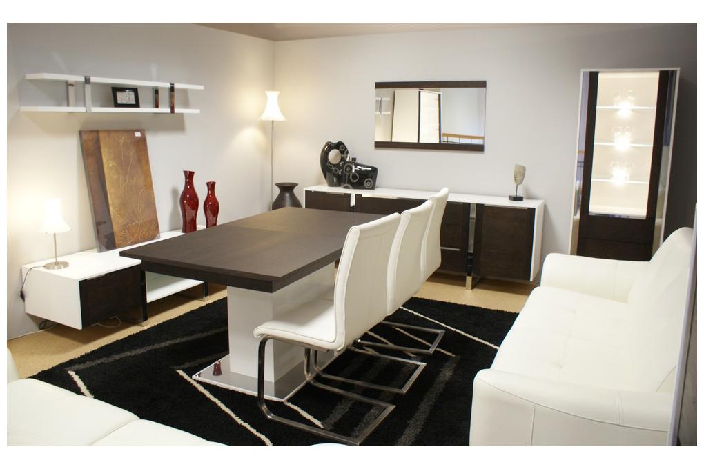 artvision zestaw mebli białe korpusy fronty wenge stół szafki krzesła