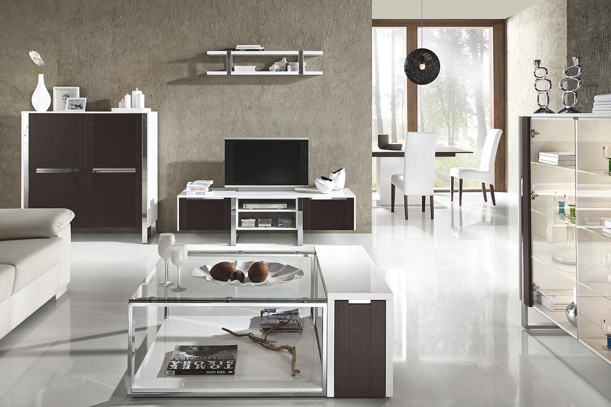 artvision zestaw mebli do pokoju dziennego białe wenge