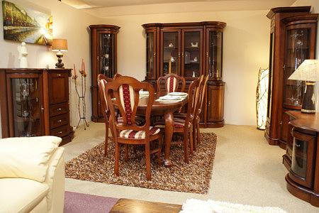 dedal meble stylowe klasyczne dębowe do salonu