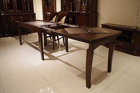 hera rozkładany stół dębowy lite drewno dębowe