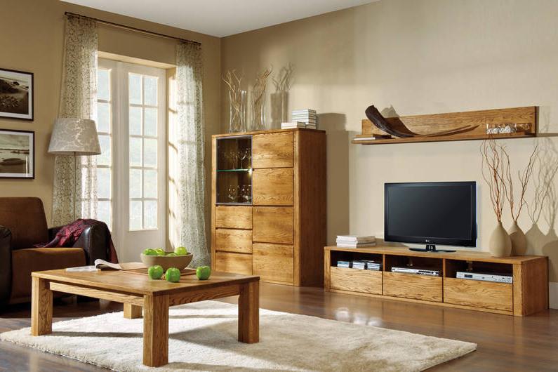 Orlando meble do salonu witryna i szafka na telewizor for Meuble de salon moderne en bois