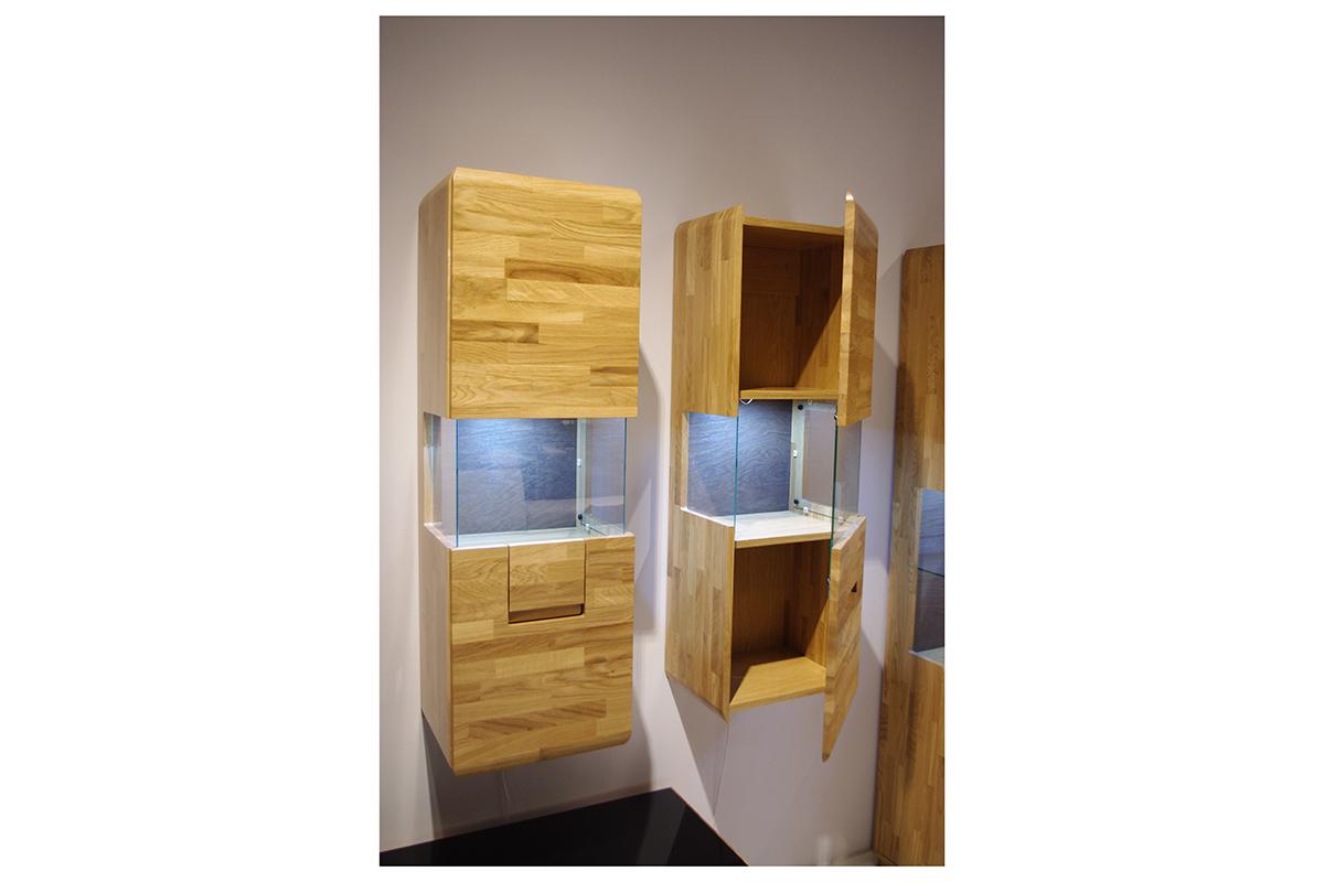 palermo szafki z drewna dębowego jedna część szklana