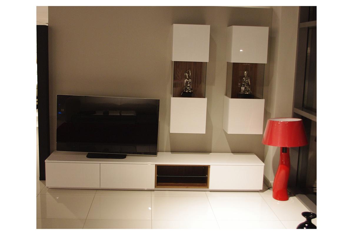 zeus biała szafka pod telewizor lakierowana wysoki połysk