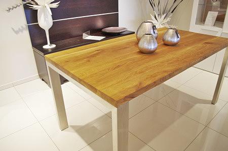masywny stół dębowy lite drewno metalowe nogi