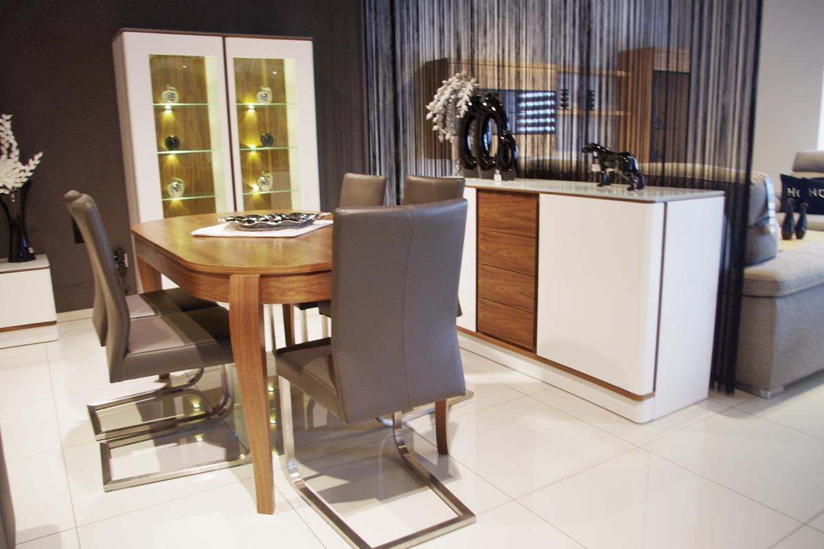 ovo białe matowe meble do salonu nowoczesne zaoblone kształty