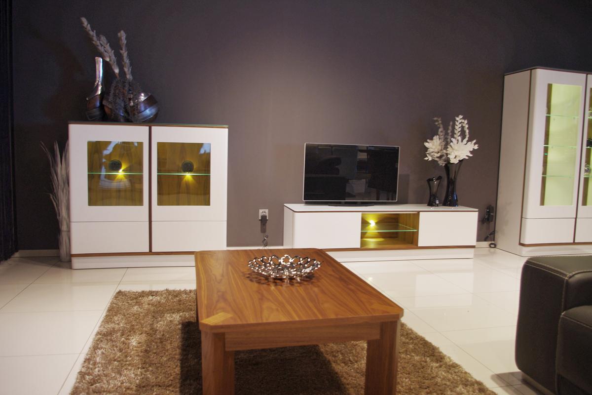 ovo salon meble białe lakierowane na matowo