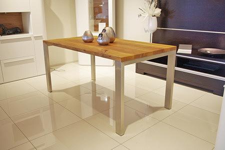 stół lite drewno dębowe metalowe masywne nogi