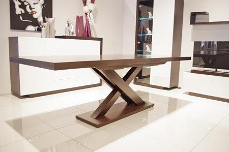 stół rozkładany dębowy podstawa w kształcie litery x