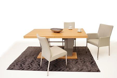 Cyprian2 inspiracja stół do jadalni krzesła beżowe metalowe nogi